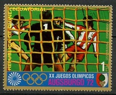 Guinée Equatoriale - Guinea 1972 Y&T N°19-1p - Michel N°(?) (o) - 1p JO Munich-Augsburg 1972 - Guinée Equatoriale