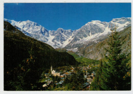 MACUGNAGA   PANORAMA  E  MONTE   ROSA             (VIAGGIATA) - Italia