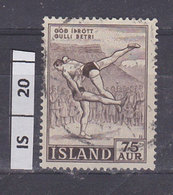 ISLANDA  1955Sport 75 Aur Usato - Usati