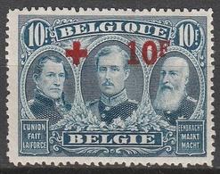 Belgie    .    OBP   .    163   (2 Scans)      .      **       .   Postfris    .  / .  Neuf Sans  Charniere - 1918 Rotes Kreuz