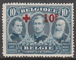 Belgie    .    OBP   .    163   (2 Scans)      .      **       .   Postfris    .  / .  Neuf Sans  Charniere - 1918 Red Cross