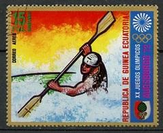 Guinée Equatoriale - Guinea Poste Aérienne 1972 Y&T N°PA5-15p - Michel N°(?) (o) - 15p JO Munich-Augsburg 1972 - Äquatorial-Guinea