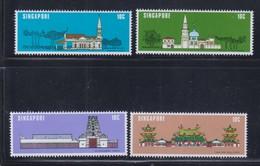 Singapore 1978 National Monuments Temples, Mosque, Church MNH - Singapur (1959-...)