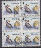 Gibraltar 1988  Birds / Common Puffin 1v Bl Of 6 Used (44221) - Gibraltar