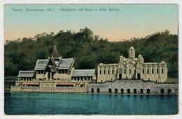 TORINO  1911   ESPOSIZIONE  INTERNAZIONALE    PADIGLIONE  DEL SIAM E DELLA  SERBIA   2  SCAN        (SCRITTA) - Ausstellungen