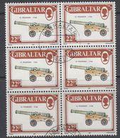 Gibraltar 1987  Canon / 12 Pounder  1v Bl Of 6 Used (44222) - Gibraltar