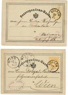 """1874, 1875 """" VILLACH """" Kärnten , A2319 - Briefe U. Dokumente"""