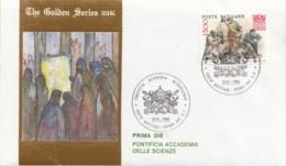 Vaticano 1986 Uf. 800 Accademia Scienze Prime Die Golden Series Con Certificato - Arte