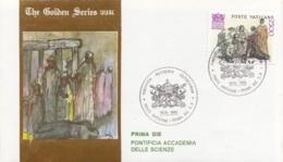 Vaticano 1986 Uf. 801 Accademia Scienze Prime Die Golden Series Con Certificato - Arte