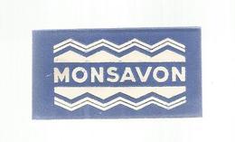 Lame De Rasoir ,  MONSAVON. ,  2 Scans - Lames De Rasoir