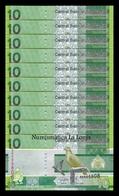 Gambia Lot Bundle 10 Banknotes 10 Dalasis 2019 Pick New SC UNC - Gambia
