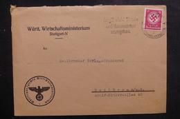 ALLEMAGNE - Enveloppe De Stuttgart Pour Heilbronn En 1943, Affranchissement Plaisant - L 39462 - Allemagne