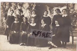 CARTE PHOTO,17,CHARENTE MARITIME,PONS,APPRENTISSAGE,ECOLE SUPERIEURE PROFESSIONNELLE DE JEUNES FILLES,1918 - Pons
