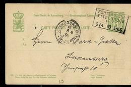 Carte N° 49  Obl. Ambulant: Echternach - Ettelbruck  03/04/1893 - Entiers Postaux