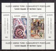 Cyprus Turkey MNH Michel Nr Block 12 From 1993 CEPT / Catw 5.00 EUR - Cyprus (Turkije)