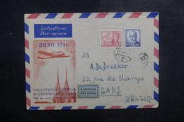 TCHÉCOSLOVAQUIE - Enveloppe FDC En 1946 Pour La Belgique - Aviation - L 39467 - FDC