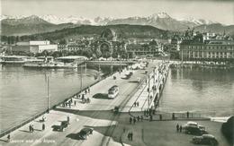 Luzern; Luzern Und Die Alpen (und Seebrücke) Tramway - Nicht Gelaufen. (Wehrli - Zürich) - LU Lucerne