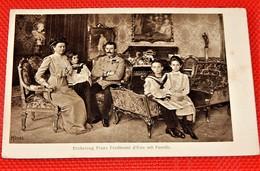 ERZHERZOG FRANZ FERDINAND Mit Familie - Archiduc François Ferdinand D'Autriche, Archiduchesse Sophie Et Enfants - Familles Royales
