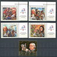 250 CENTRAFRICAINE (Rep) 1989 - Yvert 821/22 A 387/89 - Revolution Francaise Philexfrance - Neuf ** (MNH) Sans Charniere - Zentralafrik. Republik