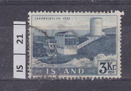 ISLANDA     1956Centrale Elettrica, 3 Kr Usato - Usati