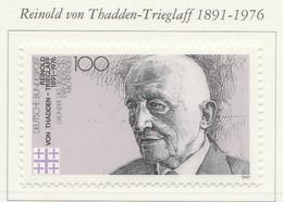 PIA  -  GERMANIA   -  1991  : Centenario Della Nascita Del Presidente Delle Giornate Evangeliche Tedesche   -  (Yv 1388) - Cristianesimo
