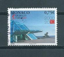 2010 Monaco Grimaldi Forum Used/gebruikt/oblitere - Monaco