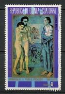 Guinée Equatoriale - Guinea Poste Aérienne 1973 Y&T N°PA25-8p - Michel N°(?) (o) - 8p Hommage à Pablo Picasso - Äquatorial-Guinea