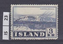 ISLANDA     1957Montagne  3 Kr Usato - 1944-... Repubblica