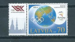 2000 Letland Olympic Games Sydney+tab Used/gebruikt/oblitere - Letland