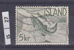 ISLANDA     1959Salmoni  5 Kr Usato - 1944-... Repubblica