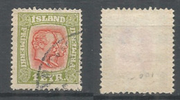 Iceland 1915 ( 1 E ) , Used Stamp Michel # 76 - 1873-1918 Dipendenza Danese