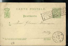 Carte N° 47  Obl. Ambulant: Luxembourg - Ulflingen  02/04/1886 Pour Wiltz - Entiers Postaux