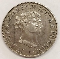 Lucca E Piombino. Elisa Bonaparte E Felice Baciocchi. 1805-1814. 5 Franchi 1807 D.488 - Monete Regionali