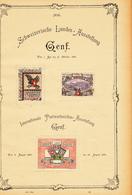 Suisse Geneve Vignette 1896 Fixed On Paper  (zie Scan) - Schweiz