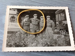 Herbesthal Gare Train Militaires Soldats Photo Originale - Militaria