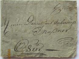 Vorphila 1770 Lindau Bodensee Mit Gedrucktem Text An Ambrosius Maßner (32028)  - Beieren