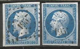 FRANCE - Oblitération Petits Chiffres LP 1957 MENDE (Lozère) - 1849-1876: Classic Period