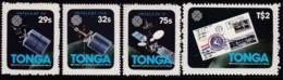 Tonga 1983 World Communication Sc 545-48 Mint - Tonga (1970-...)