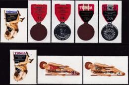 Tonga 1974 Commonwealth Gam Sc 333-36,C140-44 Mint - Tonga (1970-...)