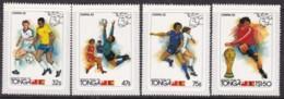Tonga 1982 World Cup Sc 509-12 Mint - Tonga (1970-...)