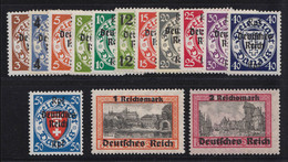 716-729 Aufdruck-Satz Danzig Kompletter Satz Postfrisch ** - Deutschland