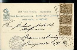 Carte- Vue Du Château De Wiltz   Obl. Ambulant: Echternach - Kautenbach 13/08/1903 - Entiers Postaux