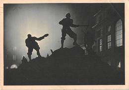 """01263 """"SCUOLA ALL. UFF DI COMPLEMENTO DEL GENIO PAVIA-MONUMENTO AGLI EROI DEL GENIO-SCULTORE VITO PARDO"""" CART SPED 1943 - War Memorials"""