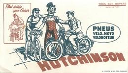 VELO - CYCLISME - MOTO - BUVARD ANCIEN ILLUSTRE- HUTCHINSON - Sport