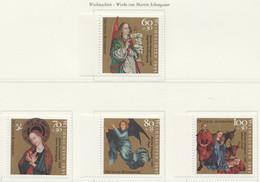 PIA  -  GERMANIA  -  1991  :  Natale - 5° Centenario Della Morte Del Pittore M. Schongauer  -  (Yv  1410-13) - Cristianesimo