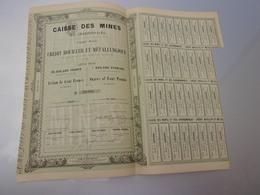CAISSE DES MINES Et Des Charbonnages (1856) - Actions & Titres