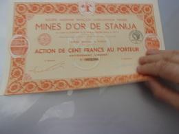 MINES D'OR DE STANIJA - Shareholdings