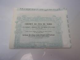 CHEMIN DE FER DU NORD (1852) - Shareholdings