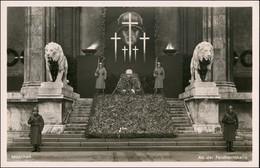 München Feldherrnhalle Soldaten Propaganda Soldat-Porträt 1938 Privatfoto - Muenchen