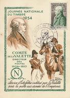 Raoul Serres Né à Cazeres Sur Garonne . Illustrateur  CP Journée Du Timbre Maximum 1954 . Estafette. La Valette. - Autres Communes